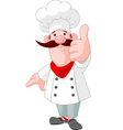 chef cook giving thumbs up vector image vector image