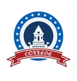 College emblem vector image vector image