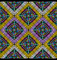 colorful geometric greek seamless pattern vector image