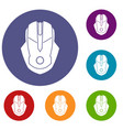 computer mouse icons set vector image vector image