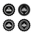 crowns collection circles vector image