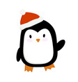 cute a penguin in a new vector image vector image