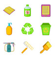 decompose icons set cartoon style vector image vector image