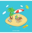 Distant work isometric flat concept vector image vector image