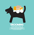 Dog Shower With Soap And Sponge Pet Grooming vector image vector image