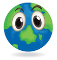 earth globe face vector image vector image