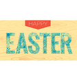 Easter inscription Linear style 2 vector image vector image