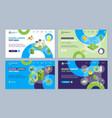 ecology concept landing web page template set 3d vector image vector image