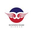 falcon logo template vector image vector image