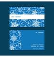 falling snowflakes horizontal stripe frame pattern vector image vector image