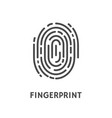 fingerprint identification and verification vector image vector image