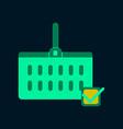 flat icon of supermarket basket vector image