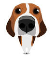 Funny sad beagle vector image