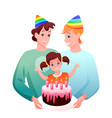 gay lgbt family celebrate vector image vector image