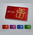 gift card design with a gold 3d box with a shadow vector image