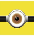 Goggle with One Brown Eye vector image