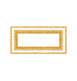 gold frame isolated on white background golden vector image vector image