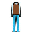 grandfather dress outfit icon vector image