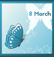 happy 8th of march template greeting card vector image