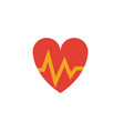 heartbeat flat icon colored simple element from vector image vector image