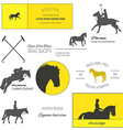 Horse label set vector image vector image