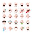 human emojis emoticons vector image vector image