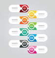 Infographics design options template banner vector image vector image