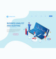 landing page with isometric business and finance vector image vector image