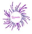 Lavender flower wreath watercolor