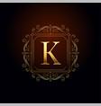 letter k premium logo concept design template vector image
