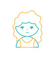 line avatar girl with blouse and hairstyle design vector image