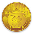 lucky gold coin cartoon vector image