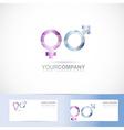 Male female symbol 3d logo vector image