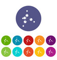 methanol icons set color vector image vector image