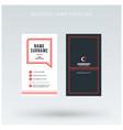 modern creative vertical red business card