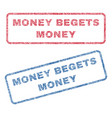 money begets money textile stamps vector image vector image