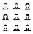 owned icons set simple style vector image vector image
