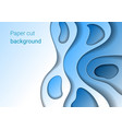 paper cut blue background vector image vector image
