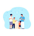 people washing hands child hygiene family vector image vector image