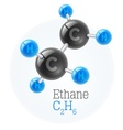 Physical chemical molecule vector image vector image