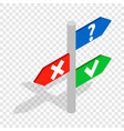 post with signs isometric icon vector image