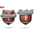 premium symbols us football tag vector image vector image