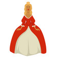 queen or princess isolated medieval female vector image vector image