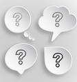 Query White flat buttons on gray background vector image