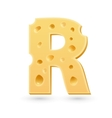 R cheese letter Symbol isolated on white vector image