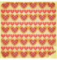 Retro Valentines Day Background with Hearts vector image vector image