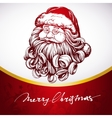 Santa Claus Christmas symbol hand drawn vector image