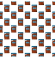 Sausage package pattern seamless vector image vector image