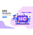 seo analysis design concept modern flat style vector image