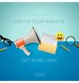 set design concept icons for internet marketing vector image
